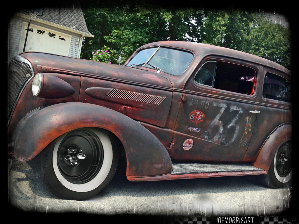 37_chevy_front_joemorrisart_race_side