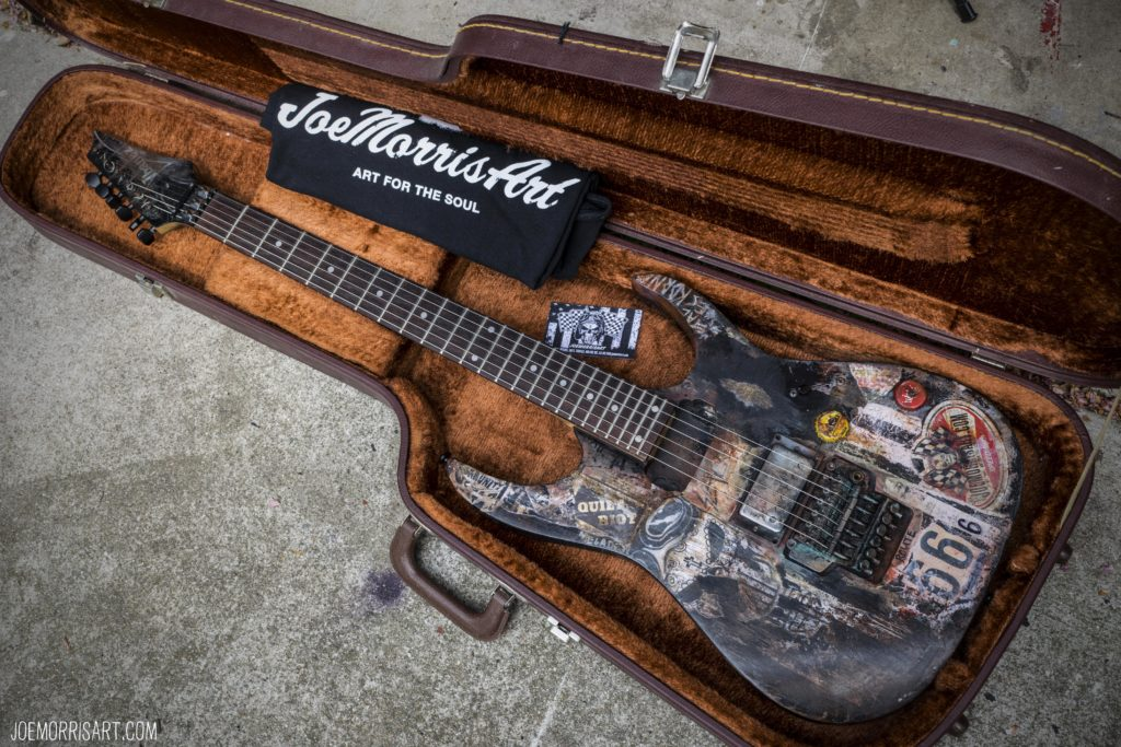 """Mad Axe"" Custom Ibanez with vintage case $1,200"